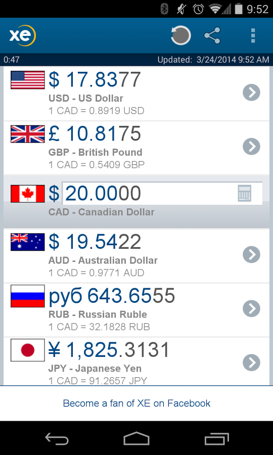 XE Currency � Apk Thing - Android Apps Free Download